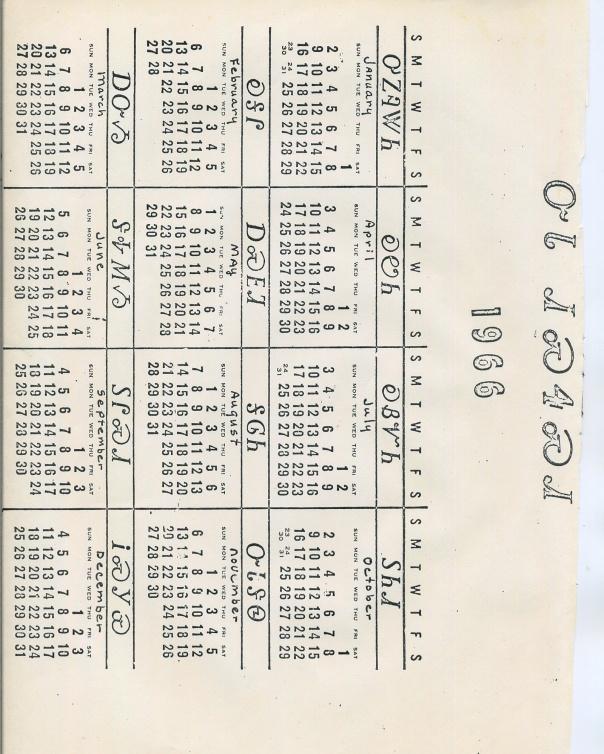 Lisa Christiansen Cherokee Calendar 1966